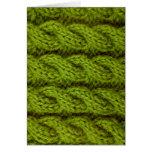 El hacer punto verde del cable tarjeta de felicitación