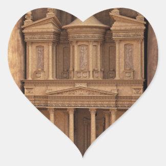 El Hacienda de Petra, Jordania Pegatina En Forma De Corazón