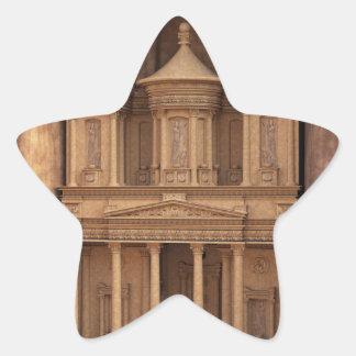 El Hacienda de Petra, Jordania Pegatina En Forma De Estrella