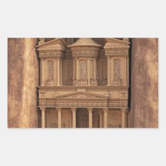 El Hacienda de Petra, Jordania Pegatina Rectangular