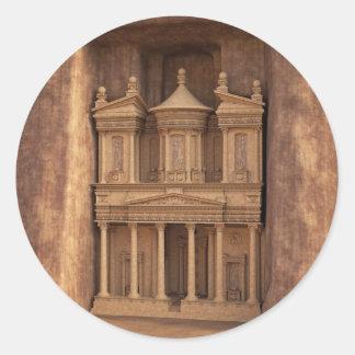 El Hacienda de Petra, Jordania Pegatina Redonda