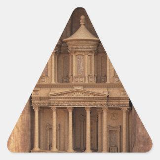 El Hacienda de Petra, Jordania Pegatina Triangular