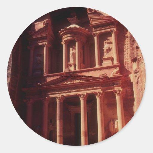 El Hacienda, Petra, ciudad antigua del noroeste Pegatina Redonda