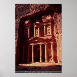 El Hacienda, Petra, ciudad antigua del noroeste Póster