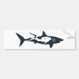 el hai del salto del buceador del tiburón tauchen pegatina de parachoque