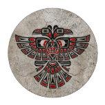 El Haida rojo agrietado dos dirigió el pájaro del  Juego De Fichas De Póquer