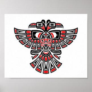 El Haida rojo dos dirigió el pájaro del alcohol en Póster