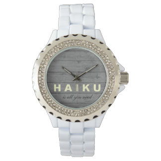 El Haiku de madera rústico es todo lo que usted Reloj