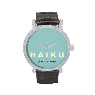 El Haiku es todo lo que necesitamos el reloj de la