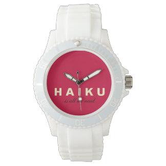 El Haiku es todo lo que necesitamos el reloj del