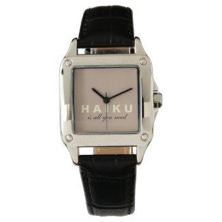 El Haiku es todo lo que necesitamos el reloj negro