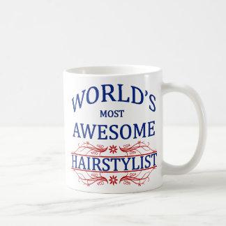 El Hairstylist más impresionante del mundo Taza Básica Blanca