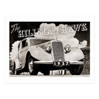 El halcón 1937 de Hillman Postal