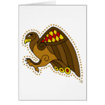 El halcón céltico tarjeta de felicitación