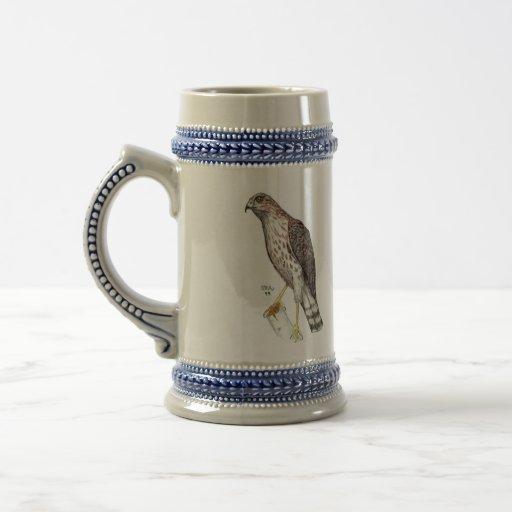 el halcón congregó, halcón congregado taza de café