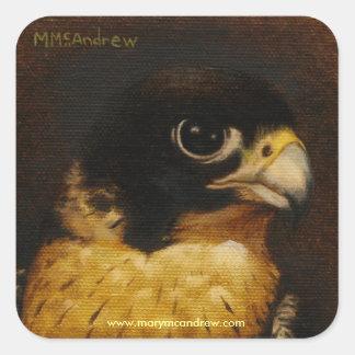 """El """"halcón de peregrino"""" le agradece los pegatinas calcomania cuadradas personalizada"""