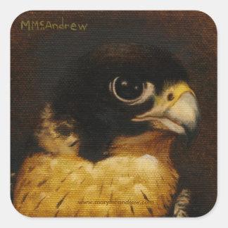 """El """"halcón de peregrino"""" le agradece los pegatinas pegatinas cuadradases"""