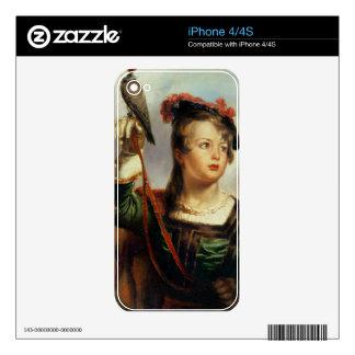 El halconero joven, 1835 (aceite en el panel) skins para iPhone 4S