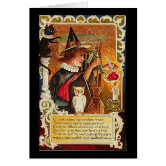 El Halloween el centro turístico de las brujas Tarjeta
