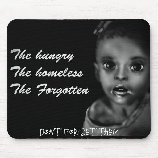 El hambriento, los desamparados, olvidado alfombrilla de ratón