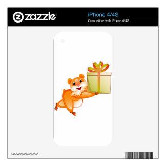 El hámster guarda el regalo calcomanías para el iPhone 4