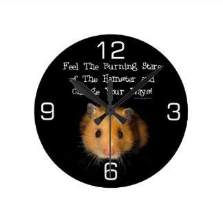 El hámster reloj de pared