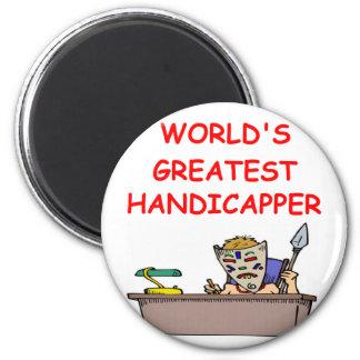 el handicapper más grande del mundo imán redondo 5 cm