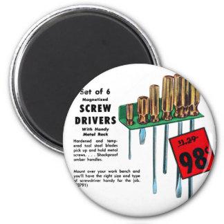 El hardware del kitsch del vintage equipa el anunc imán redondo 5 cm
