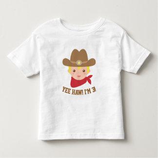 El Haw de Yee, pequeño vaquero lindo es 3 Playera De Bebé