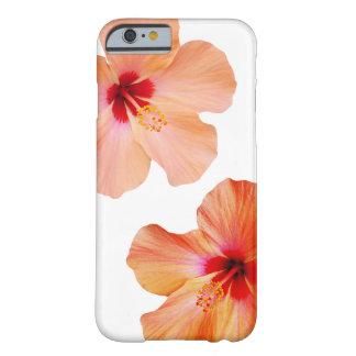 El hawaiian del hibisco florece el kona de la funda de iPhone 6 barely there