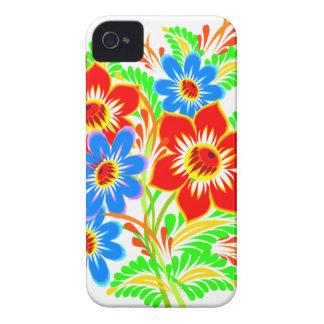 El Hawaiian florece la caja intrépida de iPhone 4 Case-Mate Funda