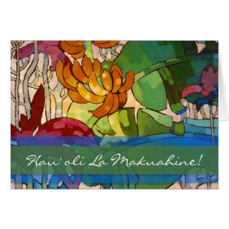 El Hawaiian florece la tarjeta del día de madre