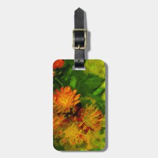 El Hawkweed anaranjado florece impresionismo abstr Etiquetas Para Equipaje