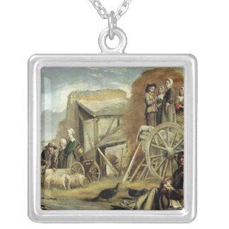 El Haycart, o vuelta del Haymaking, 1641 Colgantes