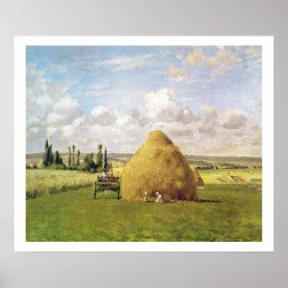 El haystack, Pontoise, 1873 Póster