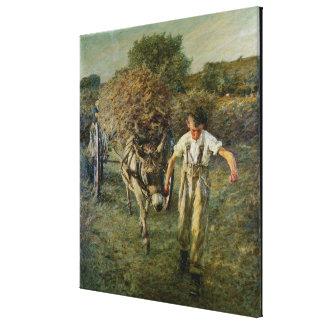 El Haywain, c.1889 (aceite en lona) Lienzo Envuelto Para Galerias