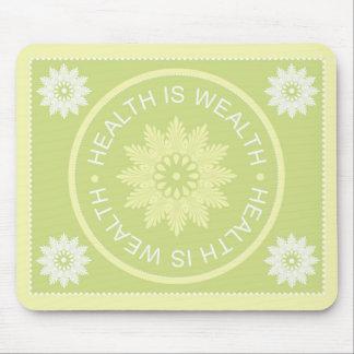 El ~Health de tres citas de la palabra es Wealth~ Alfombrilla De Raton