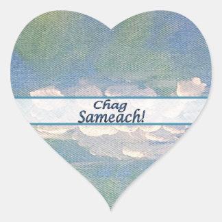 El hebreo Chag Sameach se nubla al pegatina del