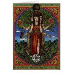 el hecate de la diosa (imagen y synbols) 001 t, re tarjeton