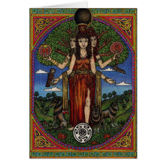 el hecate de la diosa (imagen y synbols) 001 t, re tarjeta de felicitación