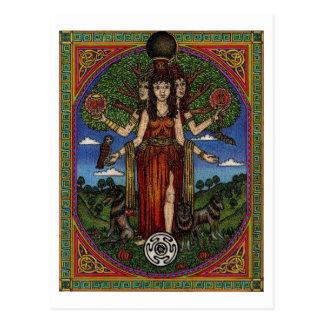 el hecate de la diosa (imagen y synbols) 001 t, re tarjetas postales
