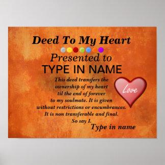 El hecho a mi corazón   lo personaliza póster