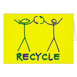 El hecho del autor y de Anita del hecho recicla Tarjeta De Felicitación