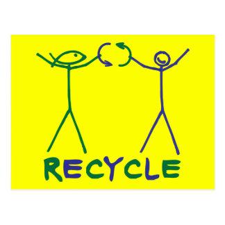 El hecho del autor y de Anita del hecho recicla Postal
