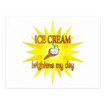 El helado aclara postal