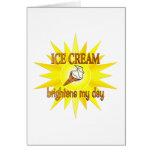 El helado aclara tarjeta