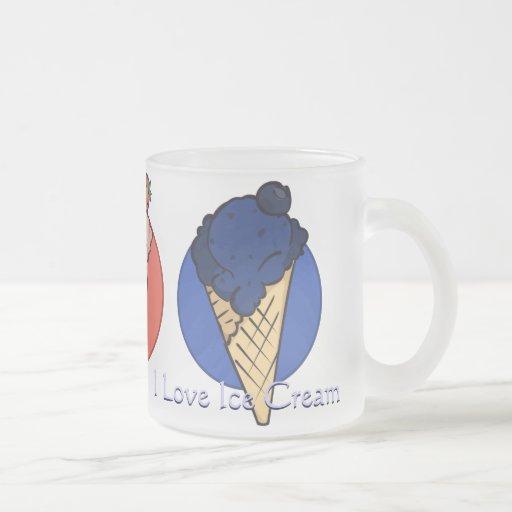El helado condimenta la taza