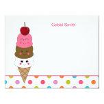 """El helado de Kawaii le agradece las tarjetas Invitación 4.25"""" X 5.5"""""""