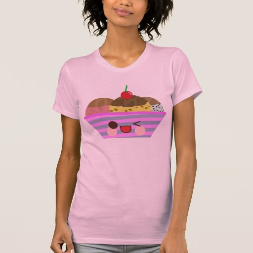 El helado del helado de Kawaii condimenta verano Camiseta