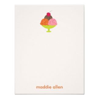 """El helado del helado le agradece las tarjetas (el invitación 4.25"""" x 5.5"""""""